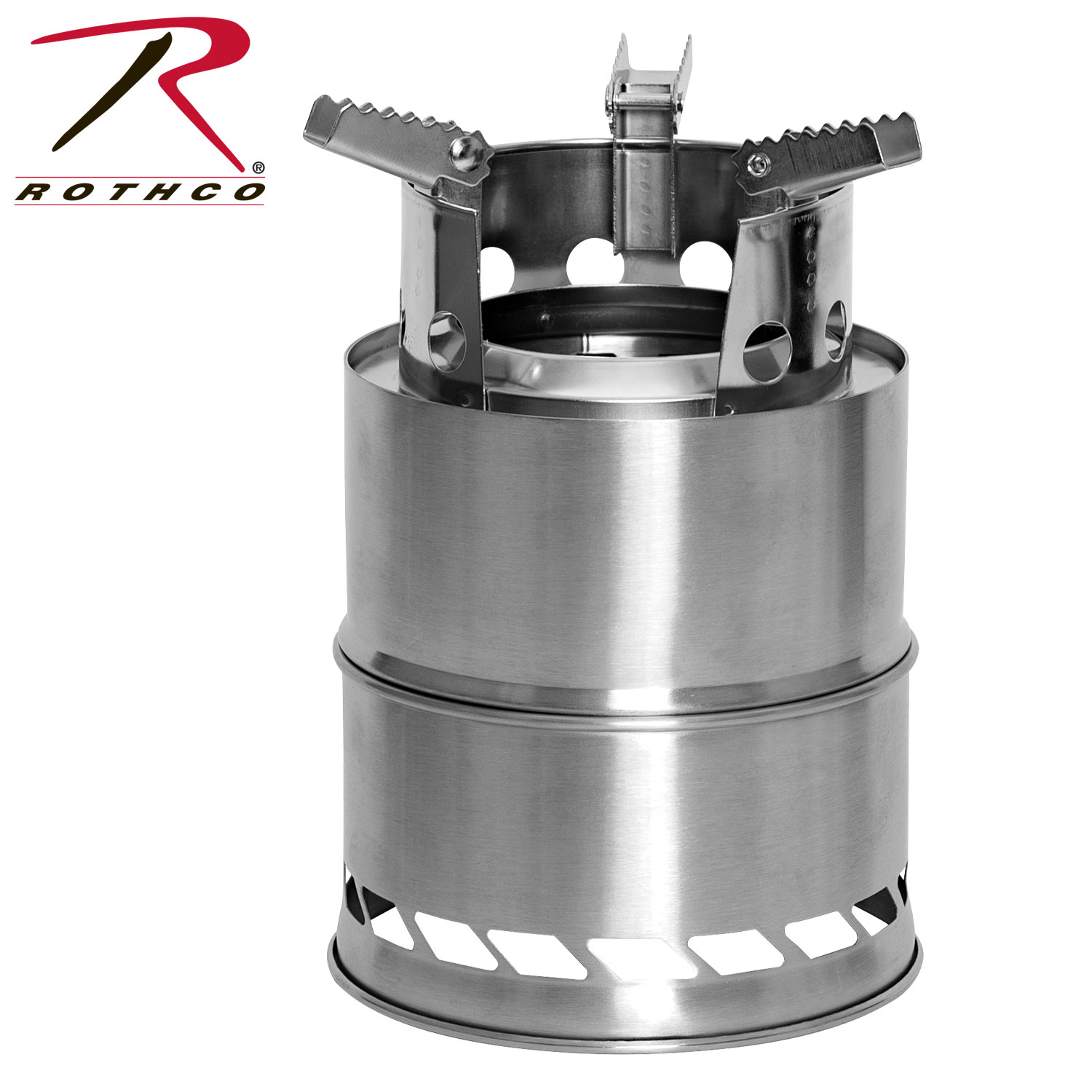 Compact Stainless Steel Emergency Camping Stove by Rothco