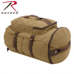 "Rothco Convertible 19"" Canvas Duffle/Backpack - Coyote & Brown"