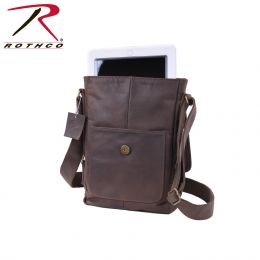 Rothco Brown Leather Military Tech Bag
