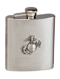 Rothco Stainless Steel Marine Corps Emblem Flask