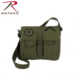 Rothco Canvas Ammo Shoulder Bag w/ Military Patches
