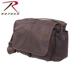 Rothco Brown Leather Classic Messenger Bag