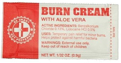100 Burn Cream Packets FABC CS