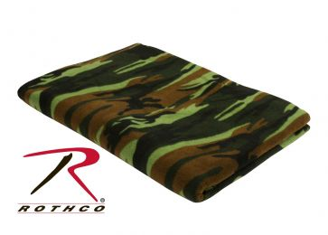 Rothco Camo Fleece Blanket (Color: Woodland Camo)