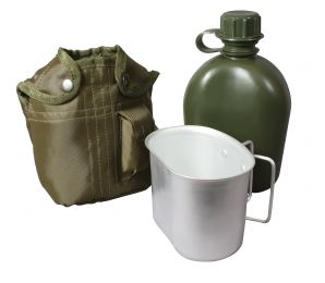 Rothco 3 Piece Canteen Kit With Cover & Aluminum Cup (Color: Olive Drab)