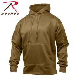 Concealed Carry Hoodie Sweatshirt by Rothco (Color: Coyote Brown, size: S)