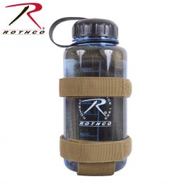 Lightweight MOLLE Water Bottle Carrier (Color: Coyote Brown)