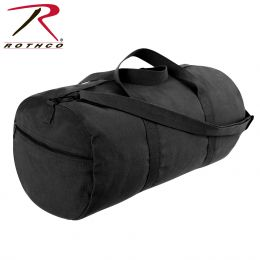Rothco Canvas Shoulder Duffle Bag - 24 Inch (Color: Black)