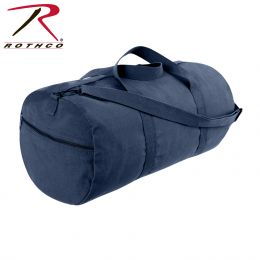 Rothco Canvas Shoulder Duffle Bag - 24 Inch (Color: Navy Blue)