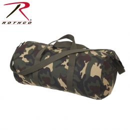 Rothco Canvas Shoulder Duffle Bag - 24 Inch (Color: Woodland Camo)