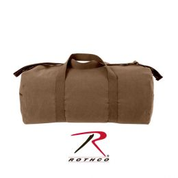 Rothco Canvas Shoulder Duffle Bag - 24 Inch (Color: Earth Brown)