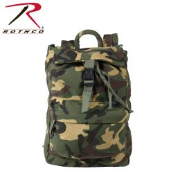 Canvas Back Pack (Color: Woodland Camo)