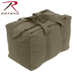 Rothco Canvas Mossad Type Tactical Canvas Cargo Bag (Color: Olive Drab)