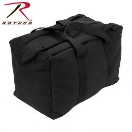 Rothco Canvas Mossad Type Tactical Canvas Cargo Bag (Color: Black)