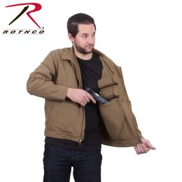 Our Concealed Carry Casual Jacket by Rothco (Color: Coyote Brown, Sizes: S)