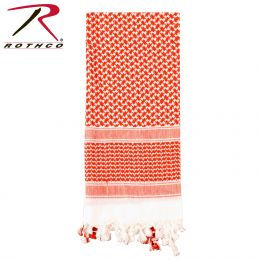 Lightweight Shemagh Scarves (Color: Red / White)
