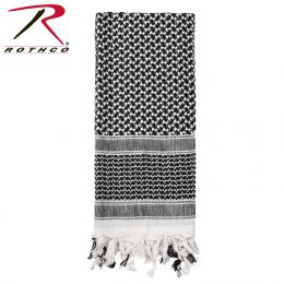 Lightweight Shemagh Scarves (Color: Black / White)