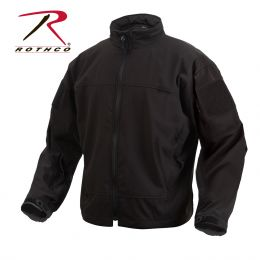 Light Weight Waterproof Soft Shell Jacket by Rothco (Color: Black, size: S)