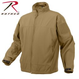 Light Weight Waterproof Soft Shell Jacket by Rothco (Color: Coyote Brown, size: S)