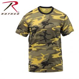 Rothco Camo T Shirt (Colored) (Color: Stinger Yellow Camo, size: S)