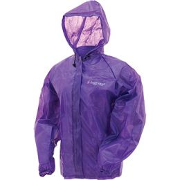 FROGG TOGGS WATERPROOF EMERGENCY RAIN JACKET (Color: Purple, Sizes: S/M)