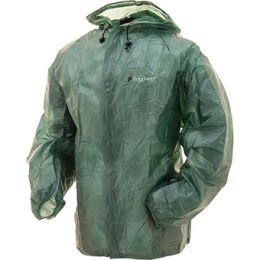 FROGG TOGGS WATERPROOF EMERGENCY RAIN JACKET (Color: Green, Sizes: MD/LG)