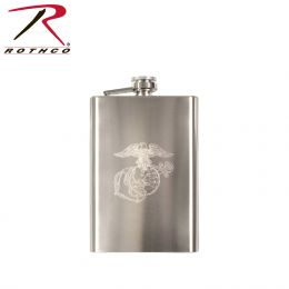 Rothco Engraved Stainless Steel Flasks (Emblem: Marines)