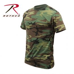 Rothco Childrens Woodland Camo Heavyweight T-Shirt (size: XS)