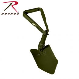 Rothco Tri-Fold Shovel (Options: Without Cover)