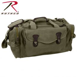 Rothco Canvas Long Weekend Bag (Color: Olive Drab)