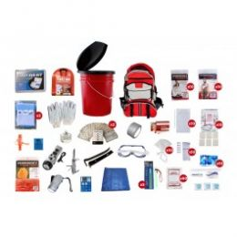 10 Person Survival Kit OKTP (Color: Red Backpack)