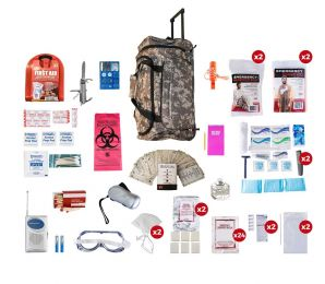 2 Person Deluxe Survival Kit (72+ Hours) SKX2 (Color: Camo Wheeled)