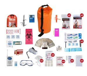 2 Person Deluxe Survival Kit (72+ Hours) SKX2 (Color: Waterproof Dry Bag)